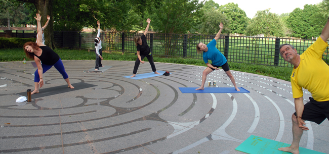 Morning Yoga at The Labyrinth